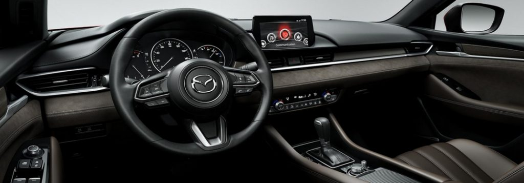 2018 mazda6 dashboard and front row detail
