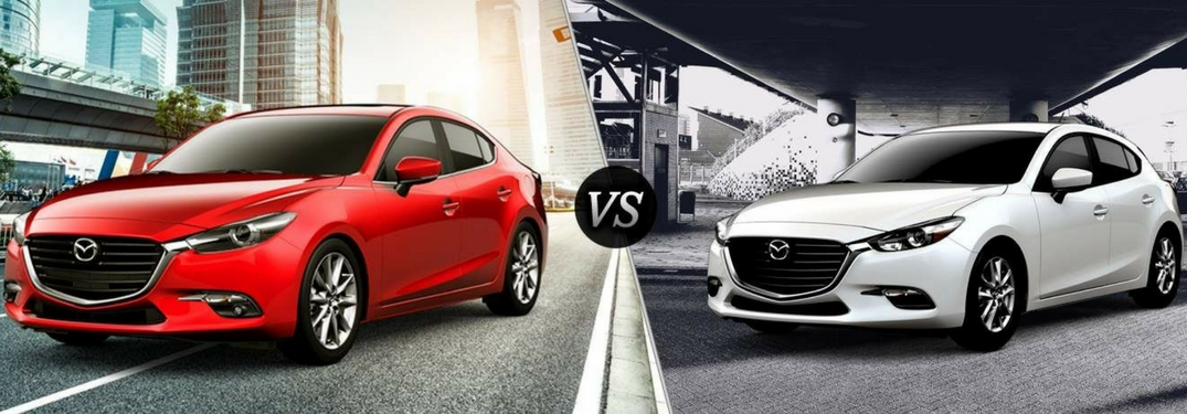 2018 mazda3 4-door and 5-door side by side