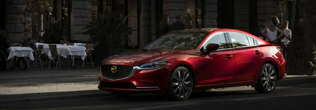 2018 mazda6 parked in the city