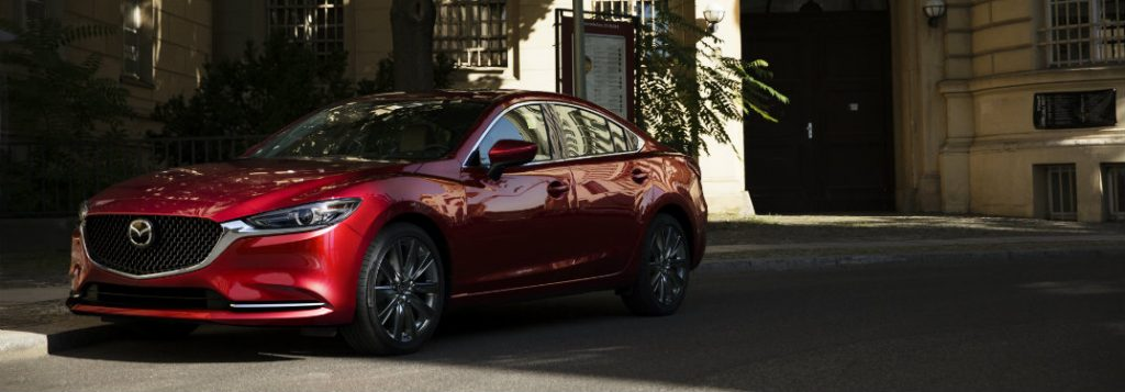 2018 mazda6 full view parked in the shadows
