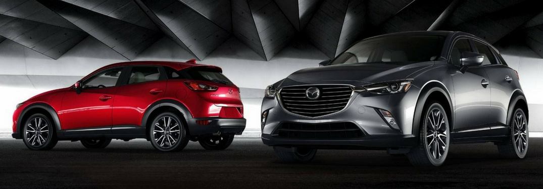 two 2018 mazda cx-3 models side by side