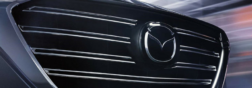 front grille of a Mazda cx-9 up close