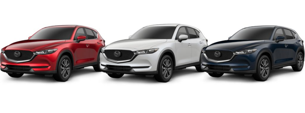 2018 mazda cx-5 models in red white and blue