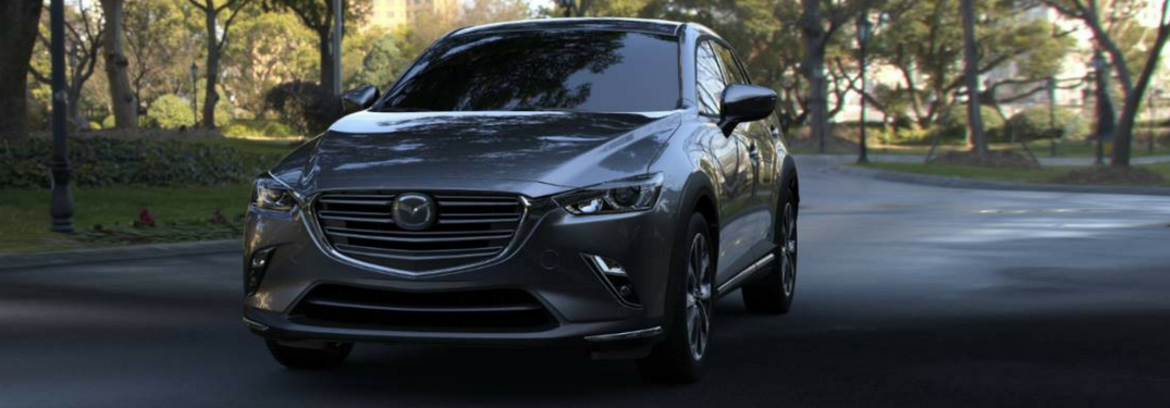 2019 mazda cx-3 driving forward view