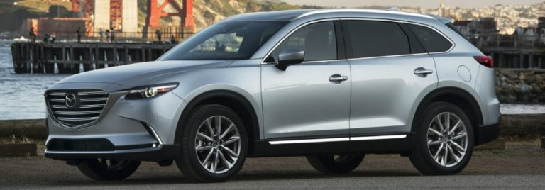 new 2019 mazda cx-9 parked full view