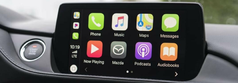 apple carplay on mazda connect infotainment system