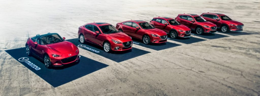 2018 mazda lineup in soul red crystal
