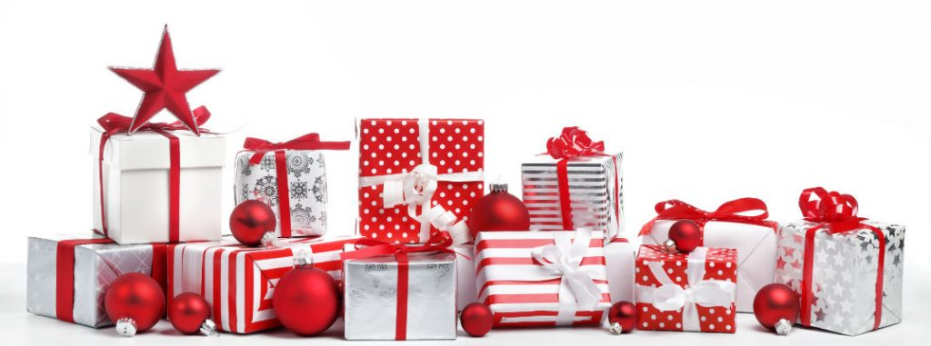 assorted wrapped christmas gifts