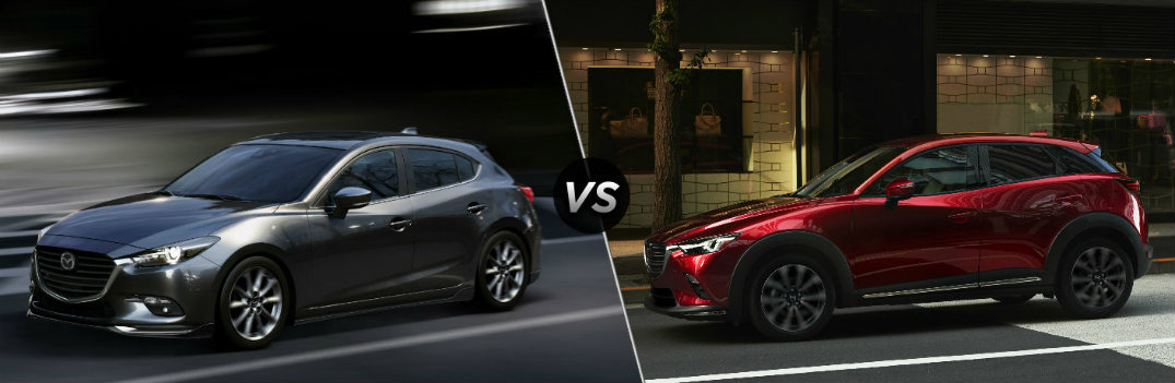 2018 Mazda3 Hatchback vs 2019 Mazda CX-3