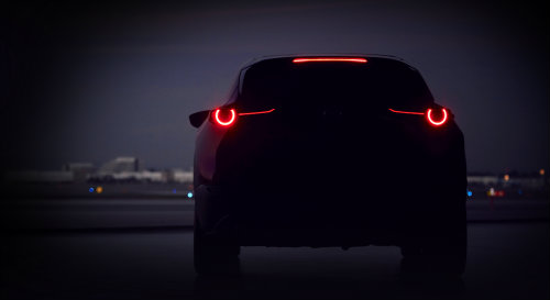 New Mazda Crossover SUV tease at the Geneva Motor Show 2019