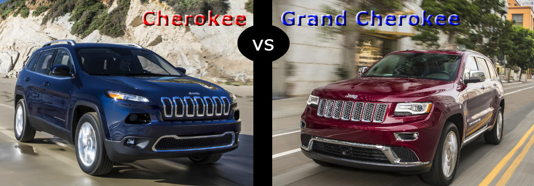 Jeep Cherokee Vs Grand Cherokee >> 2016 Jeep Cherokee Vs 2016 Jeep Grand Cherokee