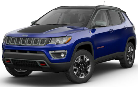2017 Jeep Compass Trailhawk Jazz Blue Pearl Black Clear O Stillwater Fury Motors