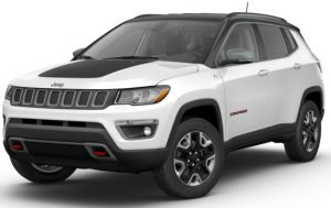 2017 Jeep Compass Trailhawk White Clear Black Clear