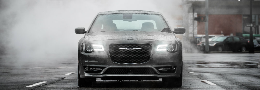 front view of the 2018 Chrysler 300 sedan in fog