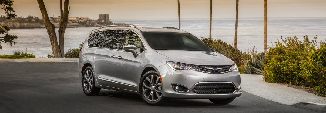 2019 Chrysler Pacifica parked in front of water