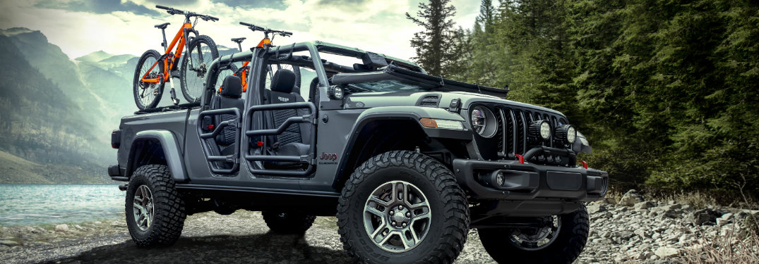 side view of a 2020 Jeep Gladiator equipped with many accessories