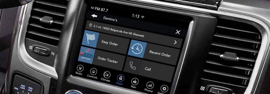 Uconnect® Market platform on 8.4-inch touchscreen infotainment display
