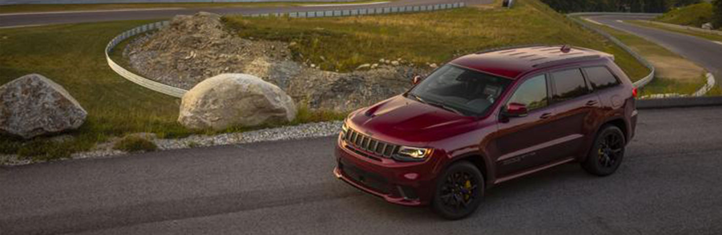 2020 Jeep Grand Cherokee by scenic landscape