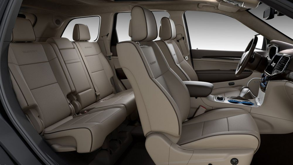 2020 Jeep Grand Cherokee Light Frost/Brown leather