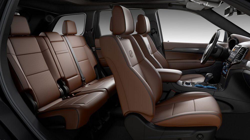 2020 Jeep Grand Cherokee Dark Sienna/Black Nappa leather