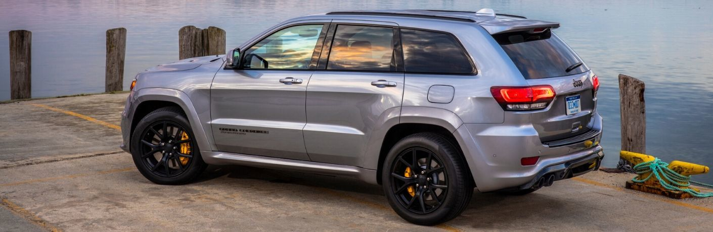 2020 Jeep Grand Cherokee parked by water's edge
