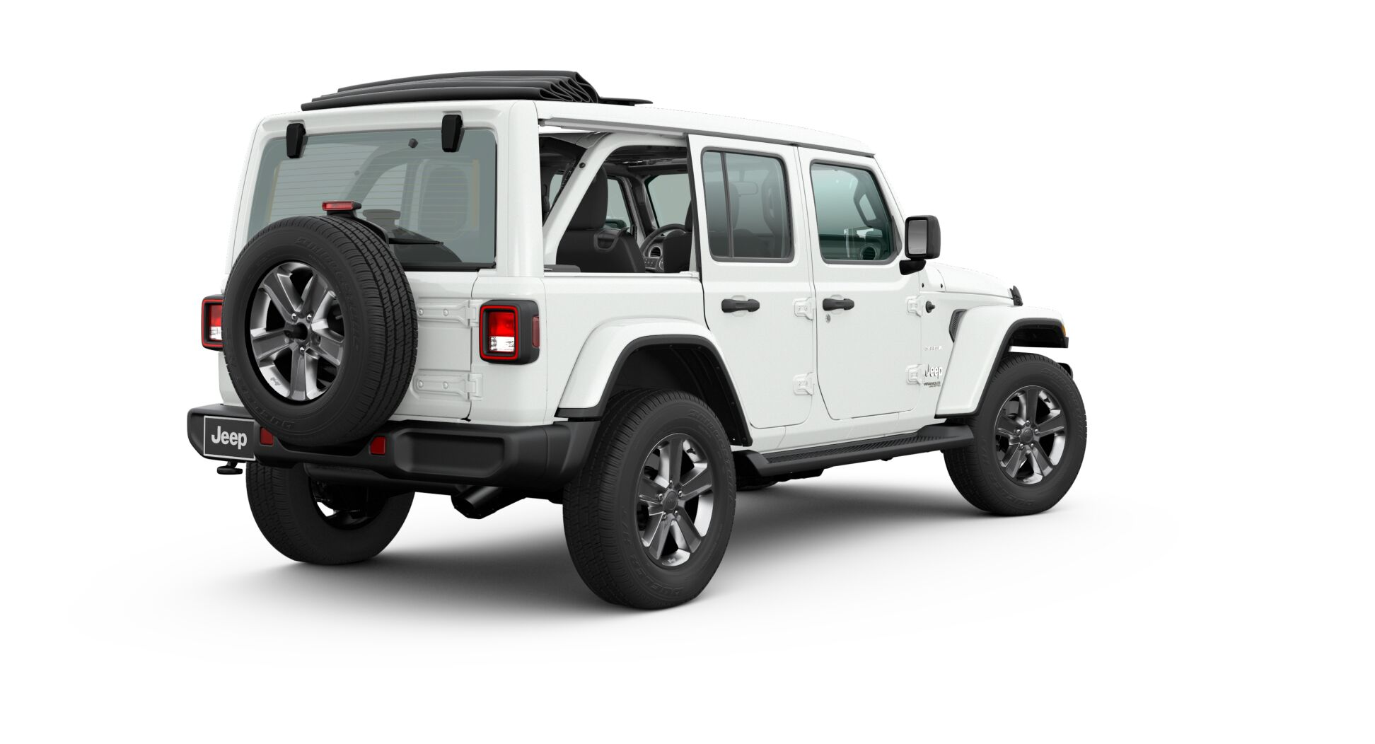 2020 Jeep Wrangler Sky One-Touch™ Power Top down