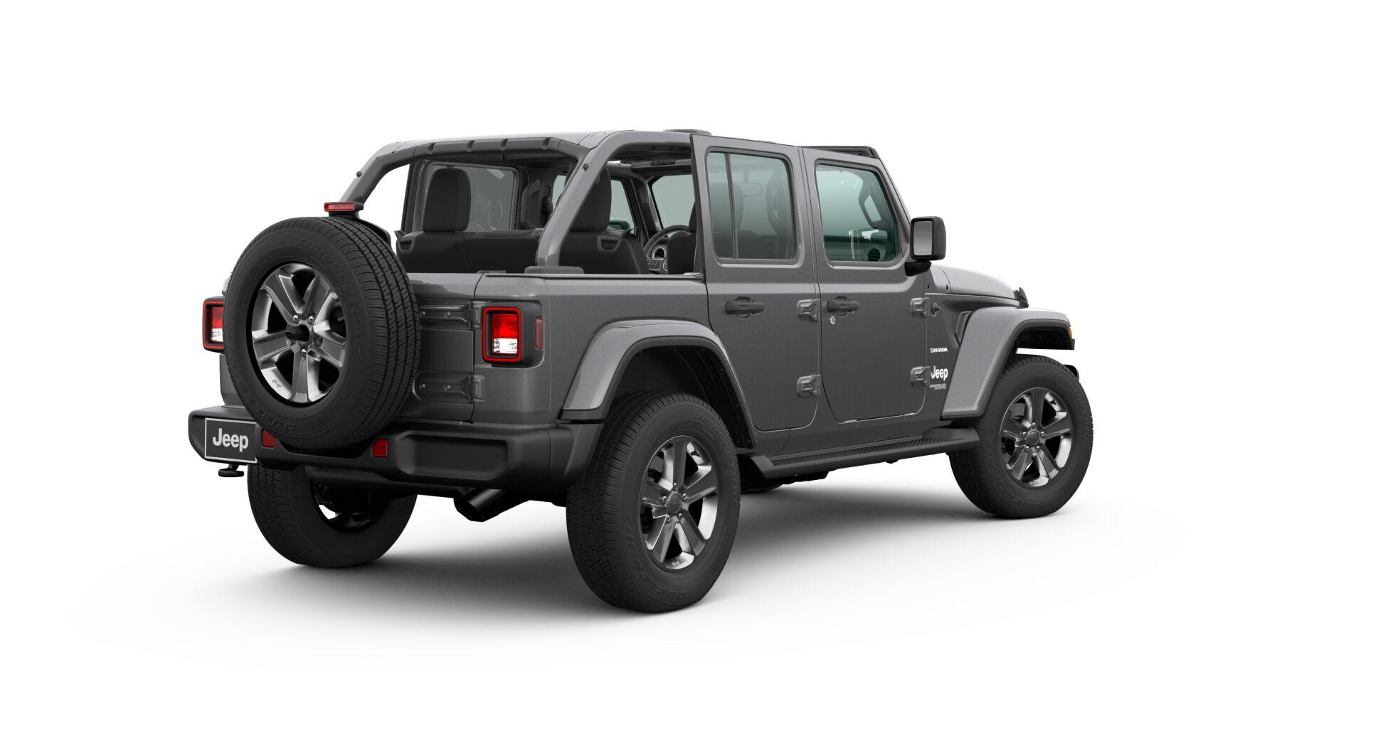 2020 Jeep Wrangler hard top down