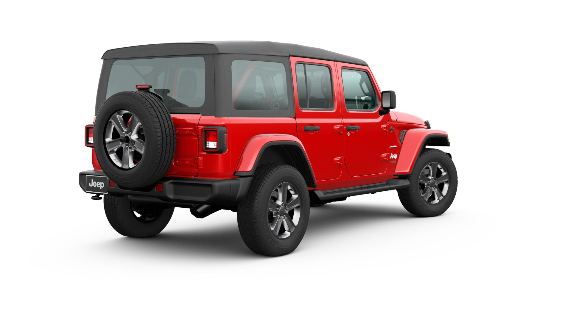 2020 Jeep Wrangler soft top up