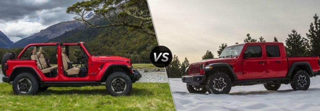 Jeep Wrangler Rubicon Vs Jeep Gladiator Rubicon Model Comparison