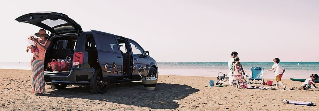 2020 Dodge Grand Caravan on beach