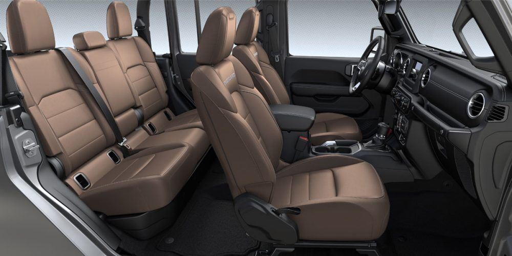 2020 Jeep Gladiator Overland Dark Saddle Leather