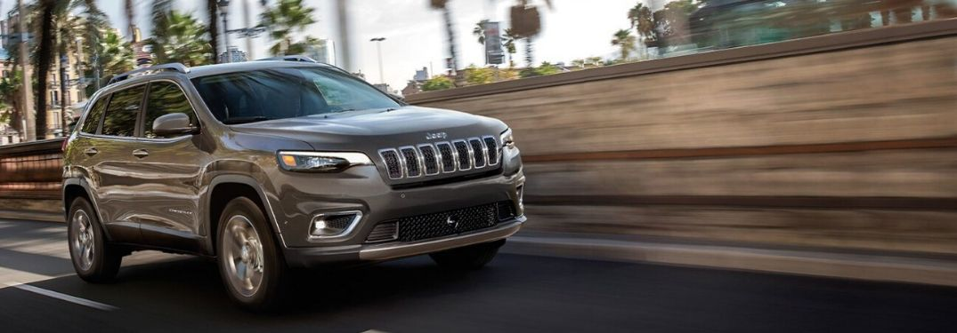 2020 Jeep Cherokee on highway
