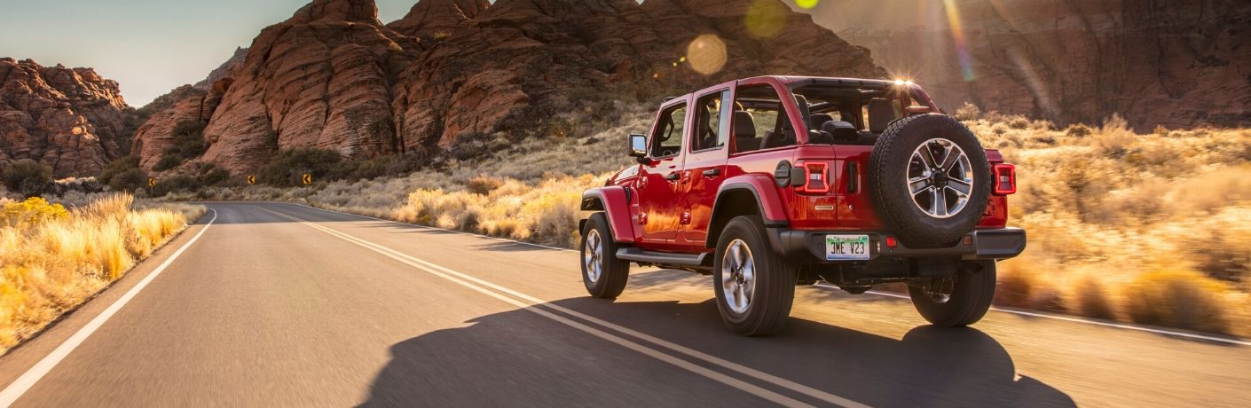 2020 Jeep Wrangler on highway