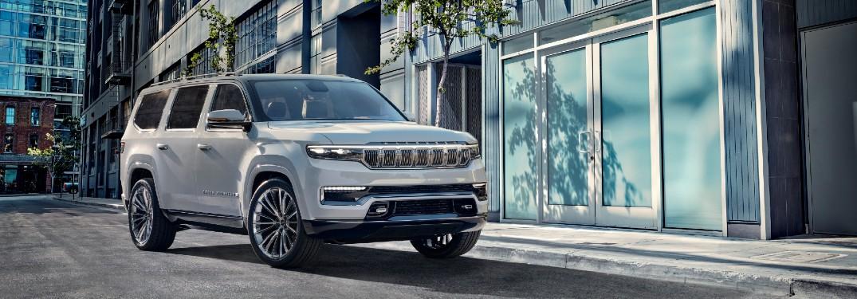 2022 Jeep Grand Wagoneer Concept on city street