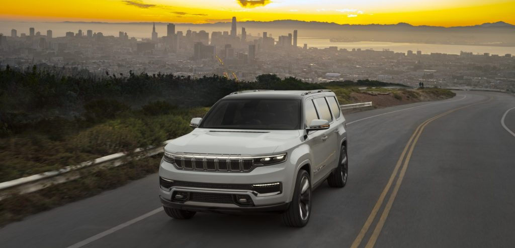 2022 Jeep Grand Wagoneer Concept on road