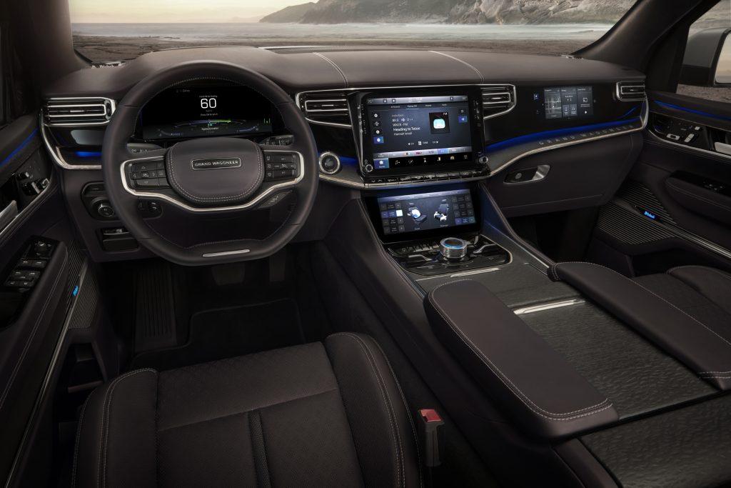 2022 Jeep Grand Wagoneer Concept dashboard displays