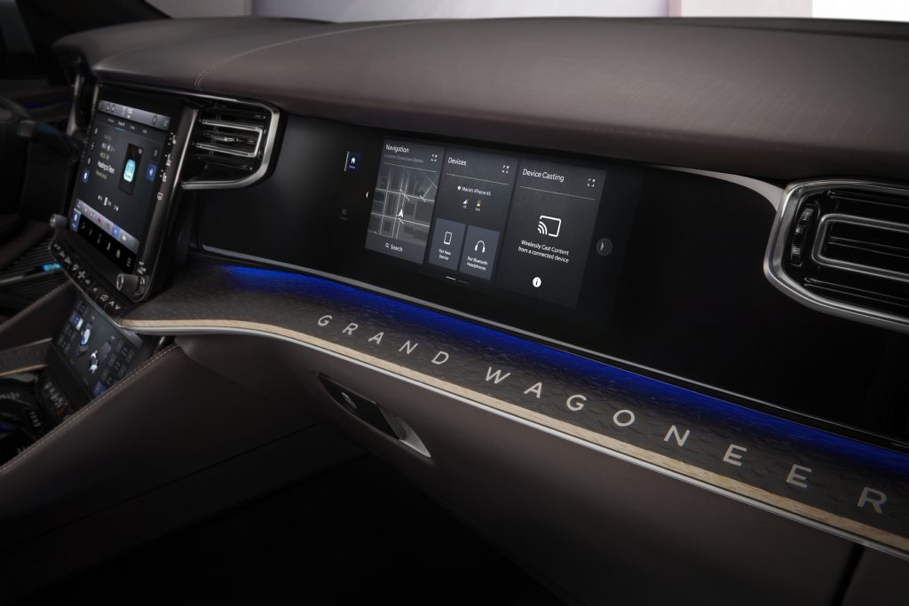 2022 Jeep Grand Wagoneer Concept passenger touchscreen