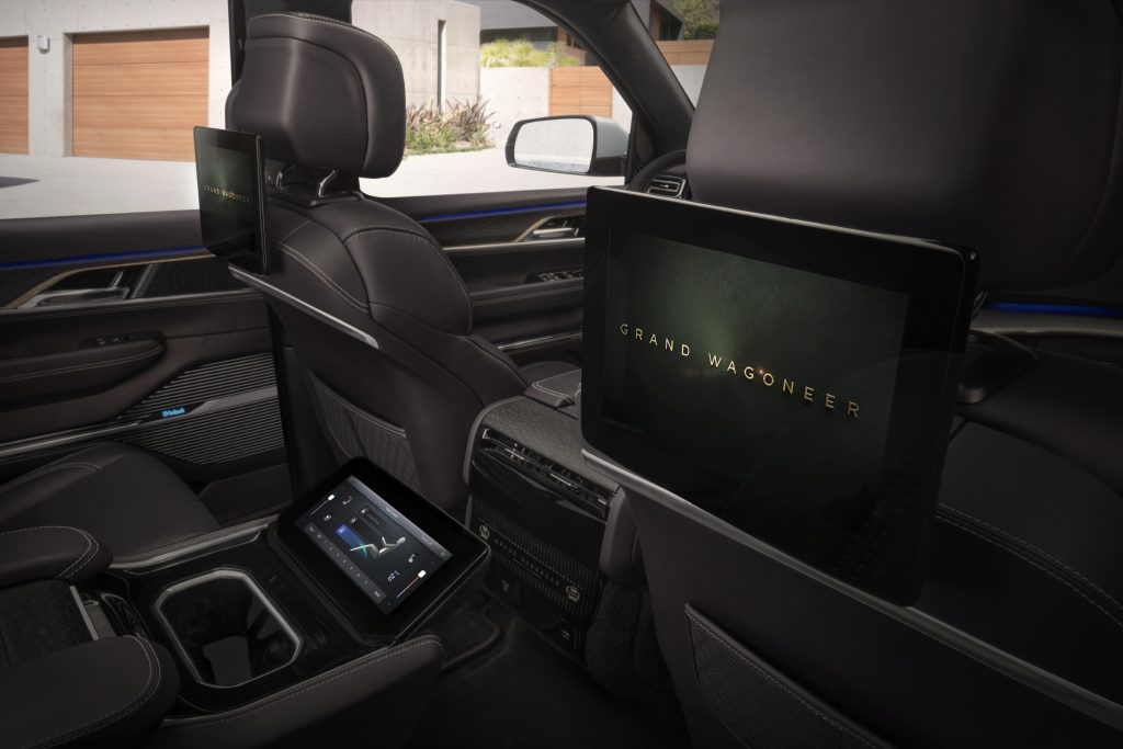 2022 Jeep Grand Wagoneer Concept rear entertainment system