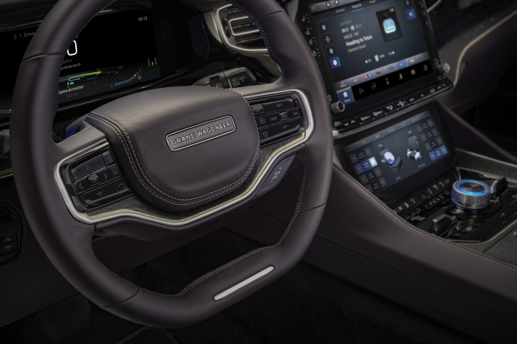 2022 Jeep Grand Wagoneer Concept steering wheel