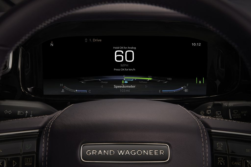 2022 Jeep Grand Wagoneer Concept cluster display
