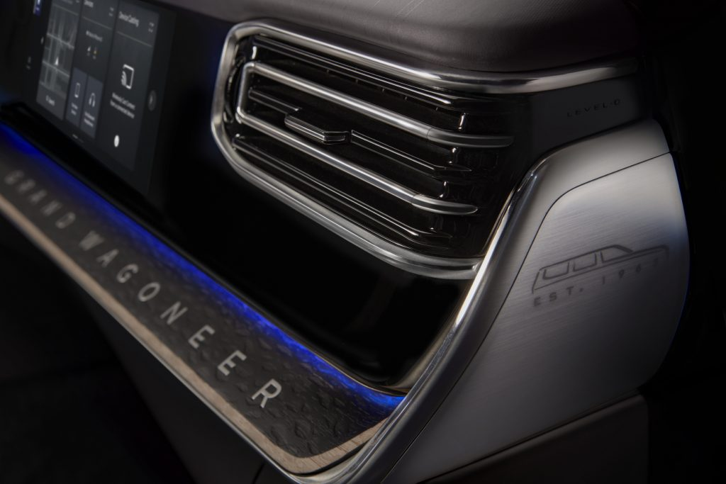 2022 Jeep Grand Wagoneer Concept vent and dash trim