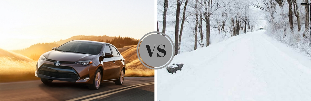 How does the Toyota Corolla handle winter driving?