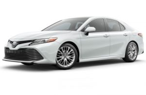 2018 Toyota Camry in Wind Chill Pearl