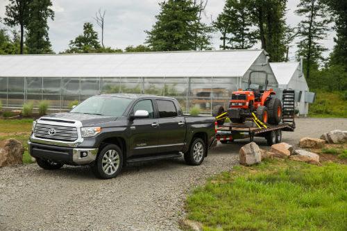 2017 toyota tundra towing a tractor o ackerman toyota. Black Bedroom Furniture Sets. Home Design Ideas