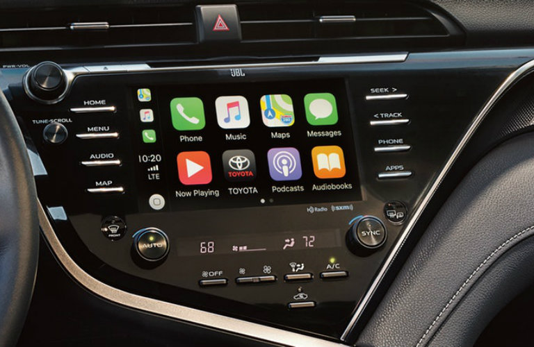 2019 Toyota Camry touchscreen display with Apple CarPlay
