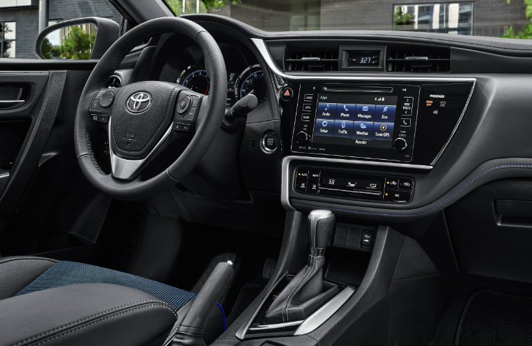 2019 Toyota Corolla steering wheel and dashboard