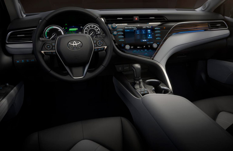 2019 Toyota Camry steering wheel and dashboard