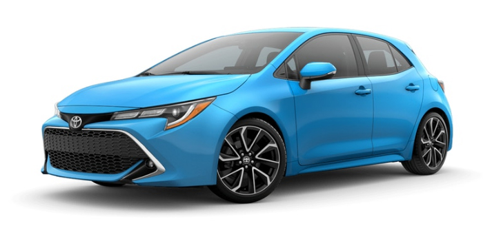 2019 Toyota Corolla Hatchback In Blue Flame O Ackerman Toyota