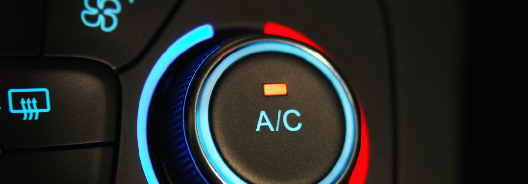 air conditioning knob with blue and red lights