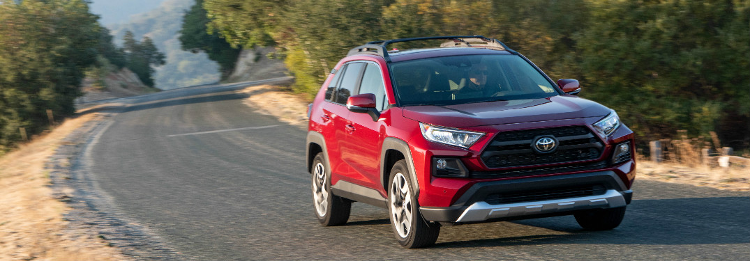 2019 Toyota RAV4 Adventure driving on a country road